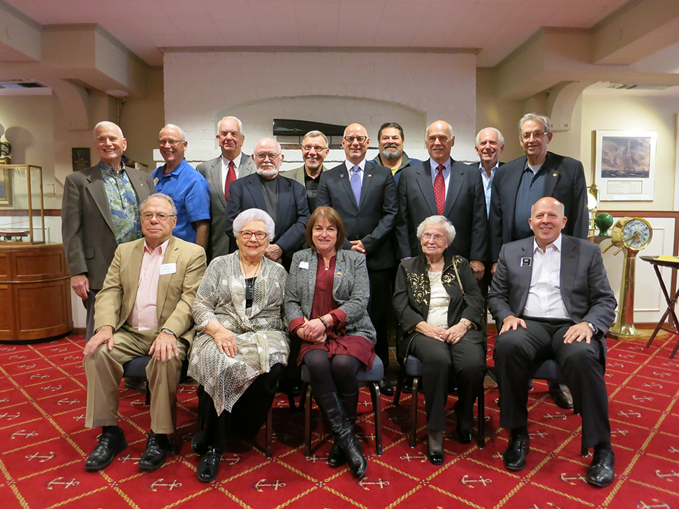 Pictured left to right: Back Row – Colin Radford (1973), Foster Radford (1981), Paul McTaggart (1992), Russ Segner (1990), Wolf Puls (2012), Tyler McKenzie (2015), Keith Nelson (2009), Larry Christensen (2014), Ty Rice (1987), Ed Murphy (2000). Front Row – Alan Tonnon (1989), Van Anderson (1993), Patti Hill (2016), Lyn Gaines (1984), Lennox Scott (1985).