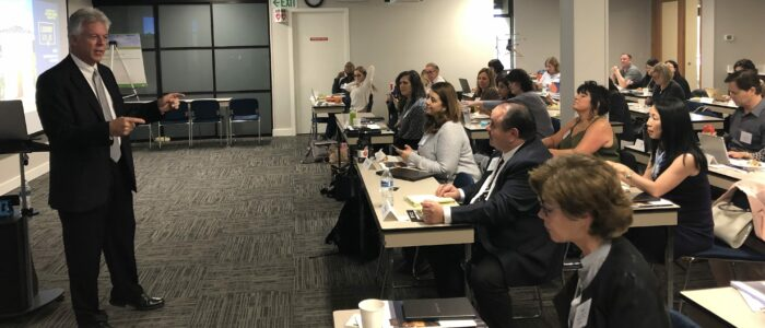 Instructor Bill Hensley with Luxury Live audience at Seattle King County REALTORS®